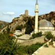 Mosque and the old town Pocitelj in Bosnia and Herzegovina — Stok fotoğraf