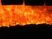 View of the fire — Stock Photo