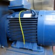 Blue electric motor — Stock Photo