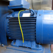 Blue electric motor — Stock Photo #17843241