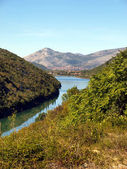 Characteristic of the Montenegrin mountain panorama — Stock Photo