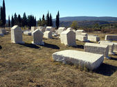 Ancient tombstones, cemetery Stolac, Bosnia and Herzegovina — Stock Photo