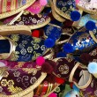 Royalty-Free Stock Photo: Shoes, footwear on the market stall in Mostar