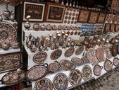 Folk metal souvenirs sold on the streets of Mostar — Stock Photo