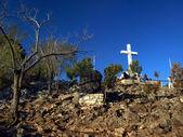 Cross on top of Krizevac near Medjugorje — Stock Photo
