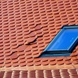 Stock Photo: Error in positioning of tiles on roof