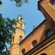 Stock Photo: Towers of Basilicof Our Lady of Piekary Slaskie, Poland