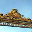 France, golden gate  of Versailles palace — Stock Photo