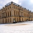 Stock Photo: Park and palace of Versailles near Paris in winter