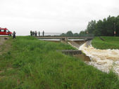 High water levels in Zielona and river Mala Panew 11 June 2013 — Stock Photo