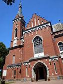 Iglesia de san adalberto en wawolnica cerca de la famosa capilla de th — Foto de Stock