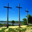 Three Crosses' Hill in Kazimierz Dolny — Stock Photo
