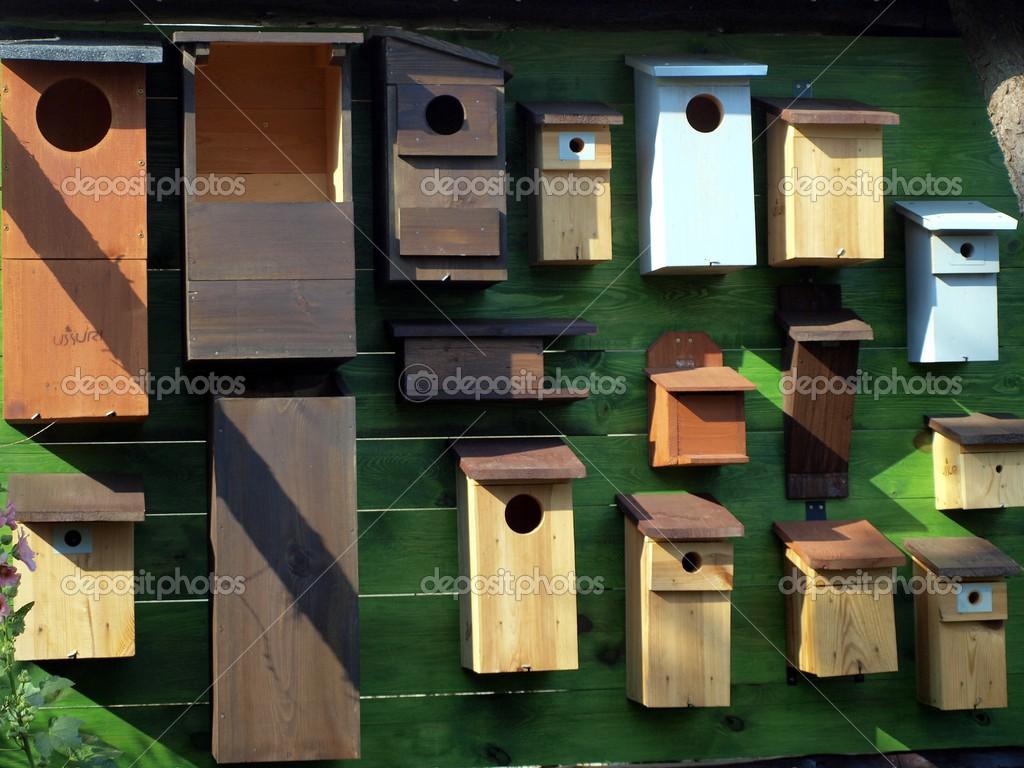 板与各式各样的房子为鸟 — 图库照片08rparys