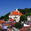 View of the old town of Kazimierz Dolny on the Vistula Rive — Stock Photo