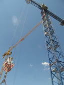 Building cranes — Stock Photo