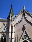 Old Town, part of the facade of the church, Trento — Stock Photo
