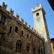 Stock Photo: PraetoriPalace in Piazzdel Duomo with Torre Civic(Civic Tower) in Trento