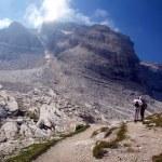 Mountain hike in the sun, Dolomites, Brenta — Stock Photo #33304393