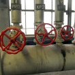 Ipes and valves with red knobs — Stock Photo #36373559