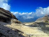 Path Alfredo Benini in the Brenta Dolomites mountains in Italy — Stock Photo
