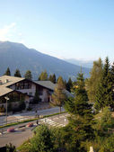 Depopulated autumn Folgarida settlement in the Italian Dolomites — Stock Photo