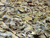 Mountain stones overgrown with moss of the Brenta Dolomites as a — Stock Photo