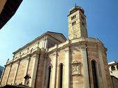 The well-known church of Santa Maria Maggiore, in the city of Tr — Stock Photo