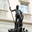 The Fountain of Neptune in Piazza delle Erbe (Bolzano-Italy) — Stock Photo