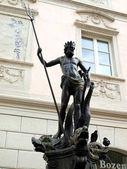 The Fountain of Neptune in Piazza delle Erbe (Bolzano-Italy) — Stock Photo