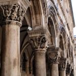 Gothic Stone Pillars in Dubrovnik — Stock Photo #42103917