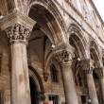 Gothic Stone Pillars in Dubrovnik — Stock Photo #42103929