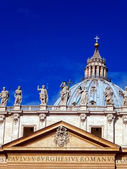 Kupol av peterskyrkan i vatikanen — Stockfoto