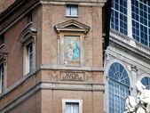 Mother church, detail of the facade of the building on St. Peter — Stok fotoğraf