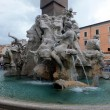 Detail of the Fountain of the Four Rivers in Piazza Navona, Rome — Stock Photo #46137823