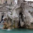 Detail of the Fountain of the Four Rivers in Piazza Navona, Rome — Stock Photo #46137991