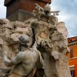 Detail of the Fountain of the Four Rivers in Piazza Navona, Rome — Stock Photo #46138001