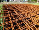 Concrete reinforcing mesh — Stock Photo