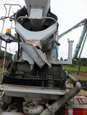 Propelled concrete mixer with pump  — Stock Photo
