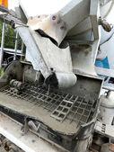 Rear self-propelled concrete mixer — Stock Photo