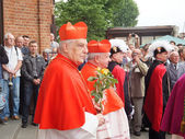 Pilgrimage for men on 25 May 2014, Piekary Silesian — Stock Photo