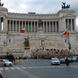 View of the national ,monument a Vittorio Emanuele II on the the — Stock Photo