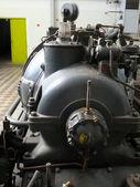 Detail einer alten turbogenerators — Stockfoto