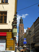 "WROCLAW, POLAND - June 7: Wroclaw, of a tenement house ""Under th — Stock Photo"