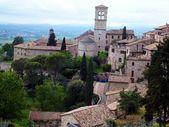 Panorama starego miasta Asyż we Włoszech — Zdjęcie stockowe