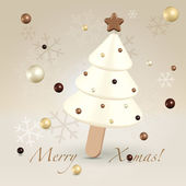 Chocolate sweet christmas greeting concept — Stock Vector