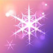 Estrella de navidad copo de nieve — Vector de stock