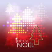 Joyeux Noël abstract background — 图库矢量图片