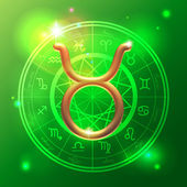 Zodiac Taurus golden sign — Stok Vektör