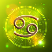 Zodiac Cancer golden sign — Stockvector