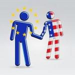 International business collaboration concept illustration — Stock Vector